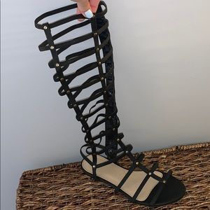 Knee High Leather Gladiator Sandals size 9.5
